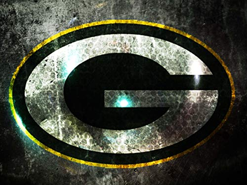 DIY 5D Diamond Painting Kits for Adults 14x20 lnch,Green Bay Packers Full Drill Diamond Painting Crystal Diamond Arts Crafts for Home Wall Decor,NFL Team - Diamond Bay Green Packers