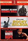 Raging Bull, Rocky Balboa, Great White Hope (3 Sports Films)
