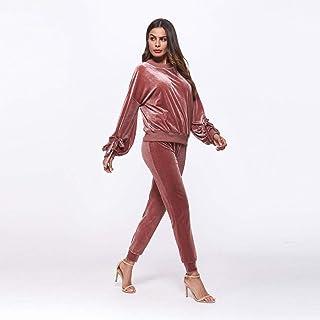 Good dress Otoño, Otoño e Invierno Moda Casual Ropa Deportiva Traje Mujer Suéter Traje Mujer, Rojo, XL