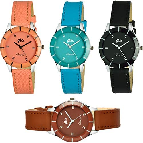 51nDDAIbJ4L. SS500  - Acnos Analogue Multicolour Dial Women's Watch - Pack of 4