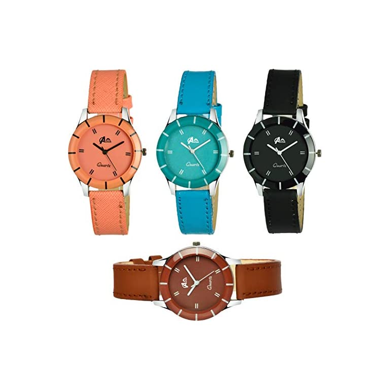 51nDDAIbJ4L. SS768  - Acnos Analogue Multicolour Dial Women's Watch - Pack of 4
