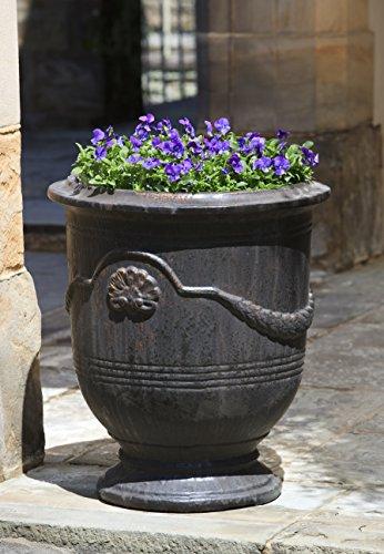 Campania International 6360-1503 Coquille Anduze Urn, Antique Glaze Finish (Glaze Urn)