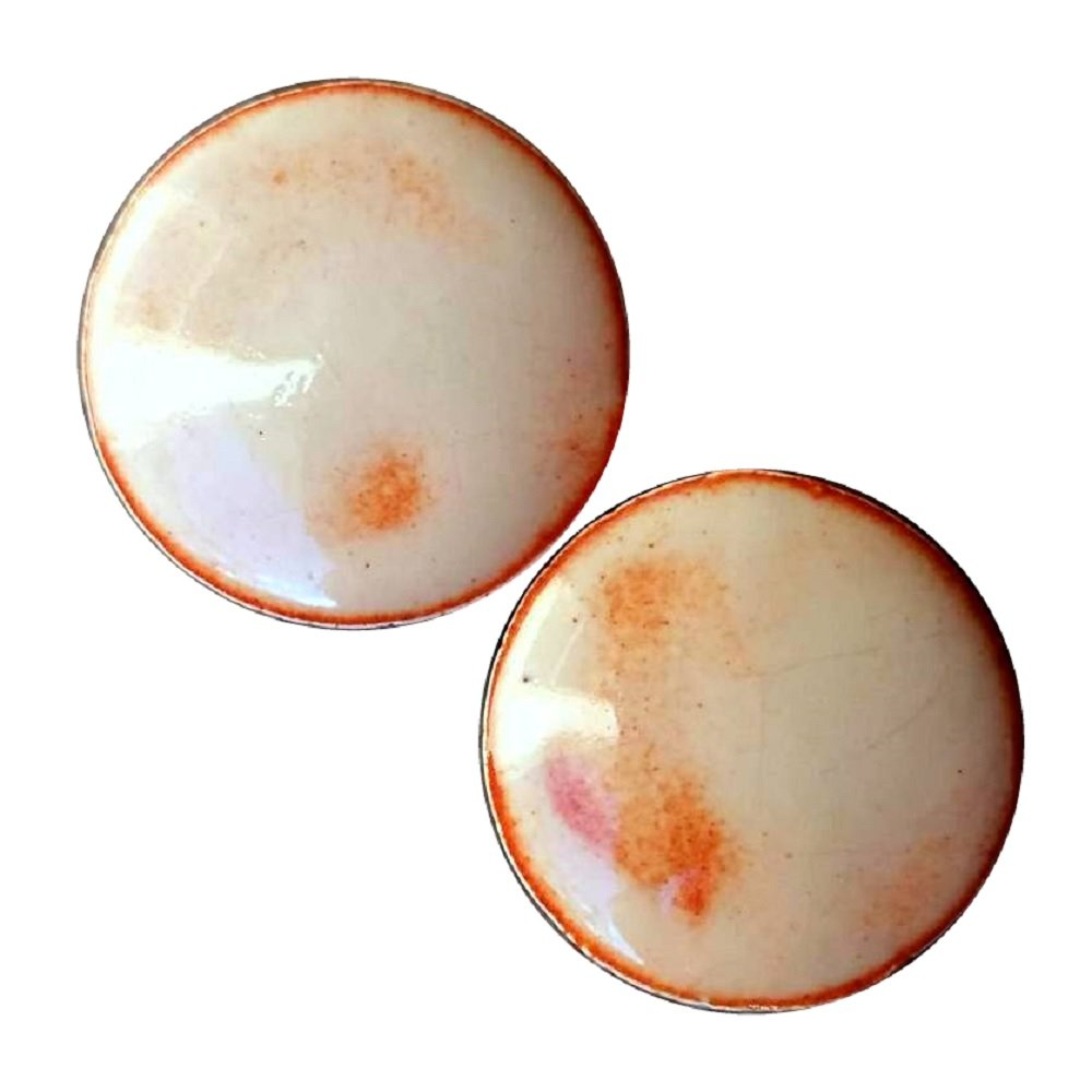Pair - Desert Canyon Ceramic Ear Plugs Organic Handmade double-flared gauges Essential Oil Diffuser (10mm 00g) by Imperial Plugs