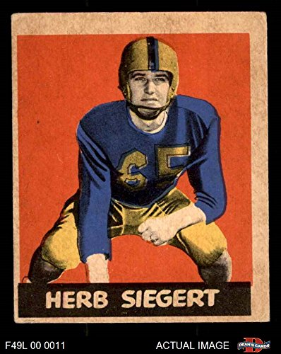 1949 Leaf # 70 Herb Siegert (Football Card) Dean's Cards 3 - VG (Herb Single Leaf)