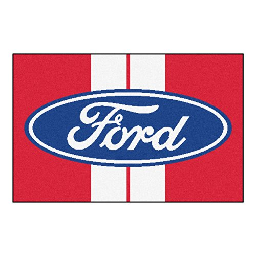 FANMATS 16148 Ford Oval with Stripes Starter Rug