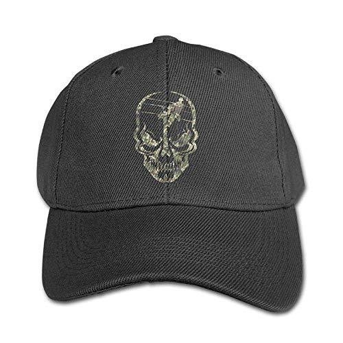 Lineman Skull Electrician Camo Kids Baseball Cap Plain Washed Low Profile Cotton Trucker Hat ()