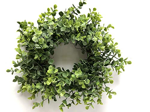 Artificial Eucalyptus Candle Ring Wreath, Floral Candle Ring