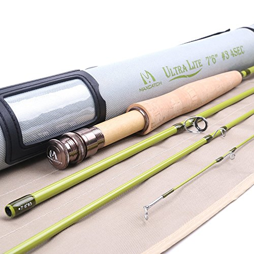 Maxcatch Ultra-lite Fly Rod for Streams (2-weight 6'6'' 4-Piece) 2 Fly Fishing Rod