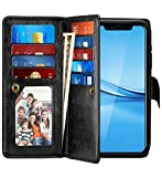 iPhone X Case, Pasonomi iPhone X Wallet Case with Detachable SlimCase - [Folio Style] PU Leather Wallet case with ID&Card Holder Slot Wrist Strap for Apple iPhone X 5.8 inch 2017(Black)