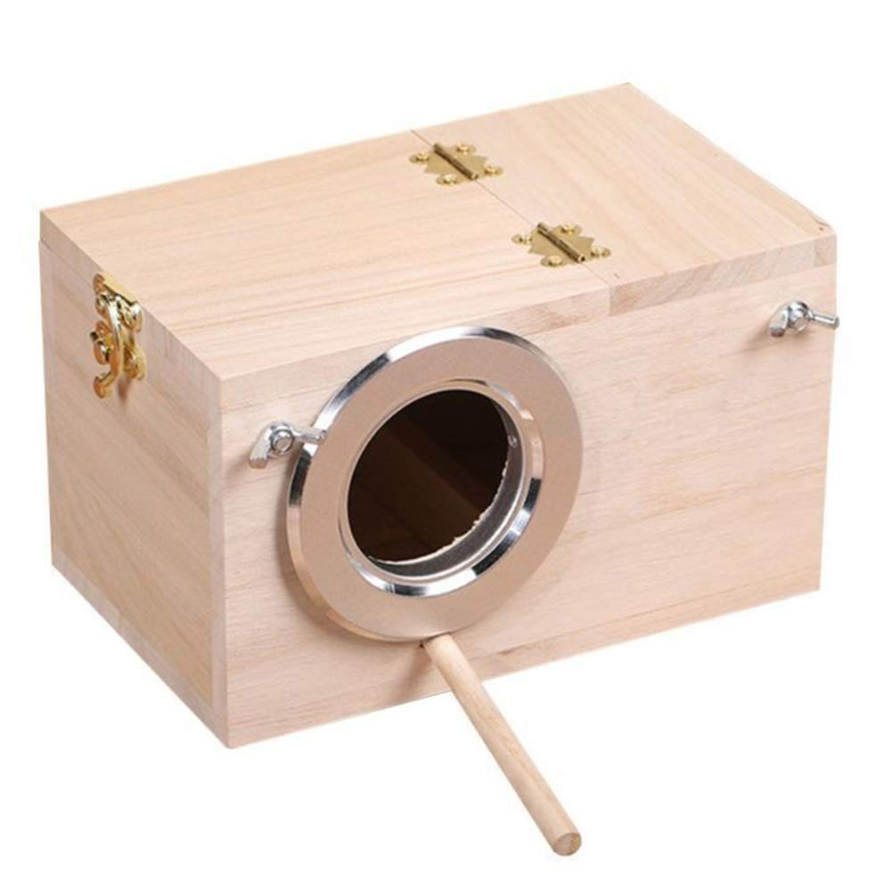 L EMVANV Wooden Wild Bird House Wood Nesting Box Wooden Nest Box Nesting Boxes Pratical For Small Birds Budgies Finches
