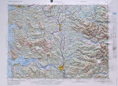 HOQUIAM REGIONAL Raised Relief Map in the state of Washington by American Educational Products