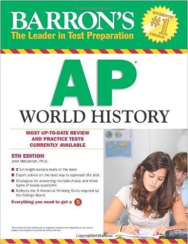 Barron's AP World History, 5th Edition: John McCannon Ph.D ...