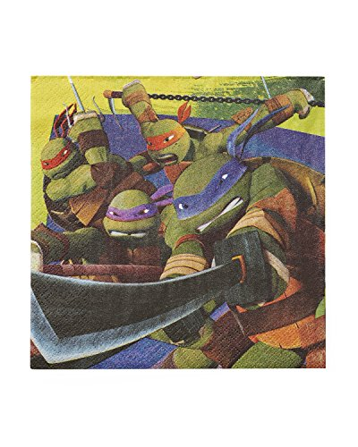 Teenage Mutant Ninja Turtles Lunch Napkins (16-Pack).