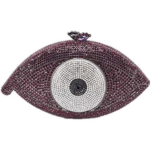 ULKpiaoliang Purse Party Clutch Bag deep Pochette Bag Women Bag Clutch Evening Gold Crystal Evil purple Femme Eye Silver Bag Day wfrwTxp