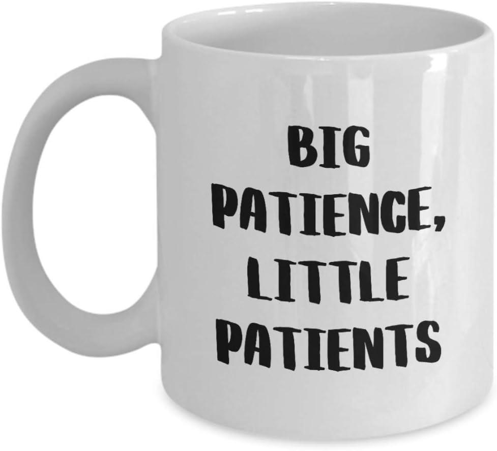 Pediatrician Coffee Mug Pediatrics Office Decor Cup for Kids Doctor - Big Patience, Little Patients