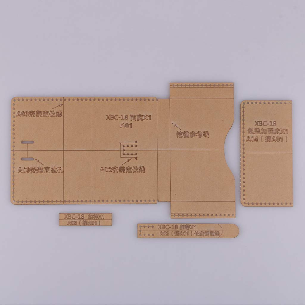 Set NEU Acryl Leder Basteln Template Muster Schneiden Schablone Handwerk Muti