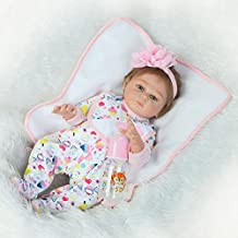 Dollshow Reborn Full Body Silicone Babies Alive Newborn Dolls Mommy's Baby Girl Eyes Open Magnetic Mouth 20inch 50CM