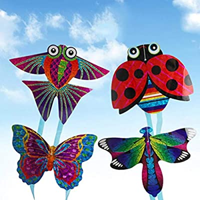 Kekailu Mini Kite,Insect Butterfly Plane Outdoor Sports Mini Kite Children InteractiveFlying Toy,Butterfly Random Style&Color: Home & Kitchen