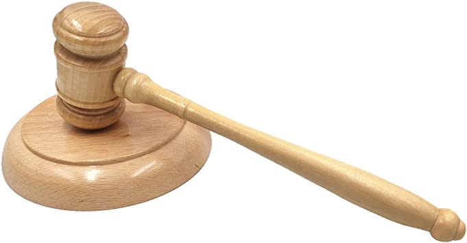 wish you have a nice day Wooden Gavel and Sound Block perfet for Judge Lawyer Auction Sale