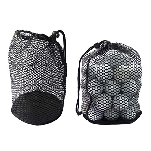 Mesh Golf Pouch (MarketBoss 2PCS Nylon Nets Mesh Pouch Bag 48 Golf Tennis Balls Carrying Holder Storage with Spring Buckle)