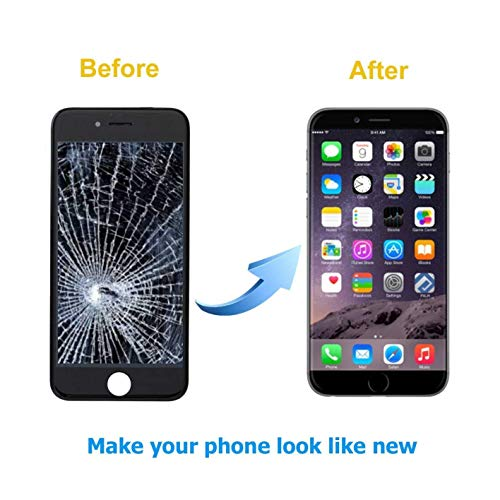 QTlier Screen Replacement for iPhone 7 LCD Display and Touch Screen Digitizer Replacement Full Assembly with Repair Tool Kit(Black, 4.7Inch, for iPhone 7) by QTlier (Image #4)