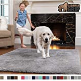 Gorilla Grip Original Faux-Chinchilla Rug, 5x7 Feet, Super Soft and Cozy High Pile Washable Carpet, Modern Rugs for Floor, Luxury Shag Carpets for Home, Nursery, Bed and Living Room, Dark Gray
