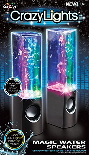 Cra-Z-Art Dancing Water Speakers (Colors May Vary)