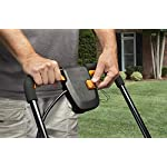 Worx wg744 cordless lawn mower 19 the 17 inches mower includes 2 removable 20v 4; 0ah batteries that delivers 40v power and performance patented intellicut provides additional torque on demand and the ability to conserve battery when desired premium 2 in 1 design that mulches, bags and rear discharges and includes a quick single lever cutting height adjustment.