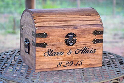 and Memory Chest - Rustic Wedding Card Chest - Personalized Gift - Rustic Wedding Decor - Wedding Card Holder - Personalized Card Box ()
