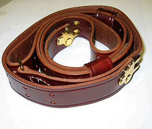 2 Point M1907 Leather Sling, Dark Brown Finished Leather,, used for sale  Delivered anywhere in USA