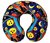 Emoji Faces Round Velvet Memory Foam U Shaped Travel Pillow Neck Support Head Rest Cushion Kids Plush Soft Toy Toddlers Teens Emojies Expressions