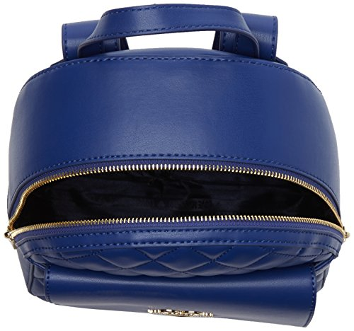 Love Moschino Damen Borsa Quilted Nappa Pu Blu Rucksackhandtasche, blau (Blue), 10 x 29 x 26 cm