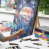 ARTEZA Acrylic Paint, Set of 60 Colors/Tubes