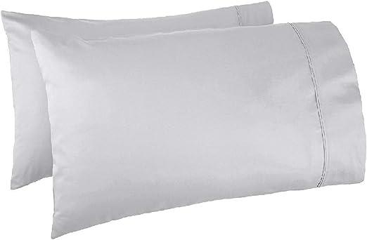 Pure White Standard Pillowcase 400 Thread Count 100/% Cotton Pillow Cases