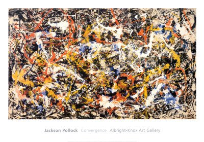 Convergence Art Poster Print by Jackson Pollock, 40x28 Art Poster Print by Jackson Pollock, 40x28