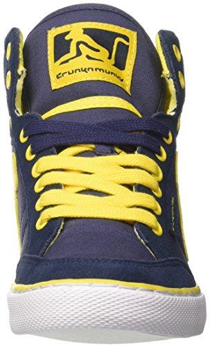 DrunknMunky Boston Vitaminix, Zapatillas de Tenis para Hombre Blu (Navy/Yellow)