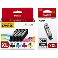 Canon CLI-281 XL BKCMY 4-Color Ink Tank Value Pack...