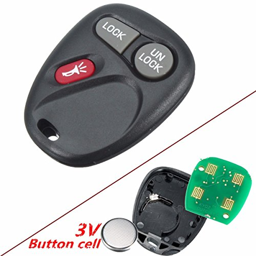 Star-Trade-Inc - 3 Button 315Mhz Keyless Entry Remote Key Fob Transmitter Replacement For Chevrolet 2001-2004 15042968 KOBLEAR1XT