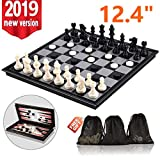 3-in-1 Chess Set - Travel Chess Set Magnetic Chess & Checkers & Backgammon