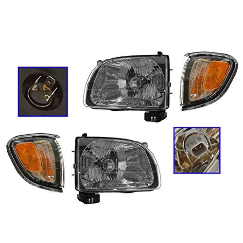 Headlight & Corner Light Lamp Chrome Trim Kit Set of 4 for 01-04 Toyota Tacoma