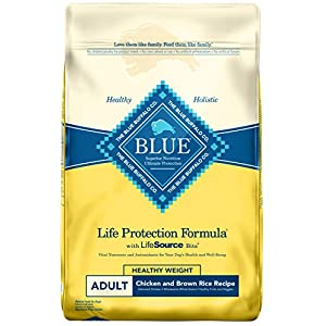 Blue Buffalo Life Protection Formula Healthy Weight Dog Food - Natural Dry Dog Food for Adult Dogs - Chicken and Brown Rice - 30 lb. Bag 25