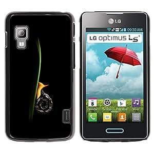 LECELL -- Funda protectora / Cubierta / Piel For LG Optimus L5 II Dual E455 E460 -- Snail Vertical --