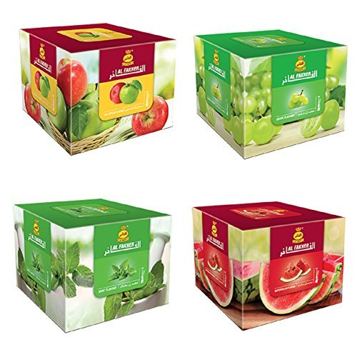 4 Packs Al Fakher Hookah Shisha Flavors Best Sellers 250g - Non Tobacco by Al Fakher