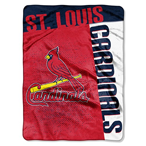 MLB St. Louis Cardinals Strike Plush Raschel Throw, 60