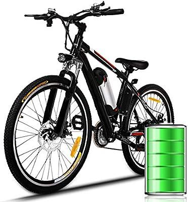 Bunao Bicicleta eléctrica de montaña, 250W, Batería 36V E-Bike ...