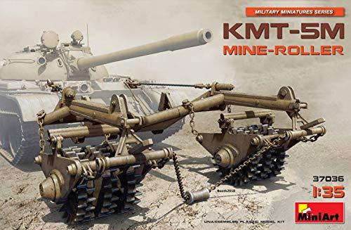 MiniArt 37036 KMT-5M Mine Roller for T-54, T-55, T-62, T-62M, Military Miniature Series 1/35 Scale Tank Model Kit
