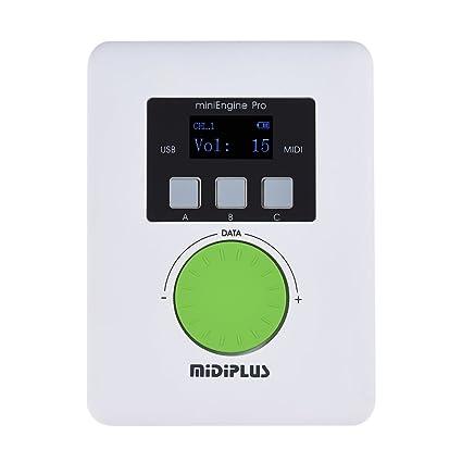 ammoon Módulo de Sonido MIDIPLUS MiniEngine Pro USB Externo Recargable Incorporado Batería de Litio 128 Sonidos