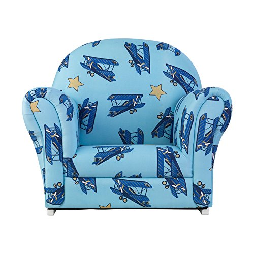 KidKraft Airplanes Upholstered Rocker with Slip Cover Toy by KidKraft