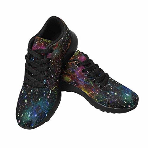 Interestprint Multicolor Lucido Spazio Esterno Womens Jogging Running Sneaker Leggero Go Easy Walking Shoes Multi 1