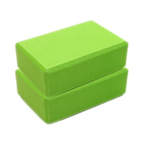 Yoga Block 2 Pack - High Density EVA Foam Block to Support and Deepen Poses, Improve Strength and Aid Balance and Flexibility - Lightweight Yoga ...